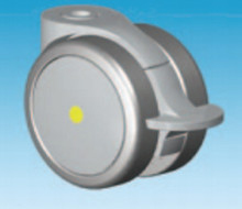 Grey 75mm Total Lock Anti Static Conductive Castor Suitable for Medical Applications