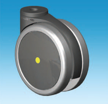 125mm Black Freewheeling Conductive Freewheeling Castor with a Choice of Stem