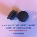 Grey Scaffolding Tube Inserts for an outside diameter tube of 48mm