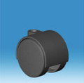 40mm Black Hard Wheel Castor with Choice of Stem