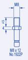 M8 x 12mm long BZP Threaded Stem to fit our 40mm Castors