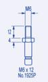M6 x 12mm long BZP Threaded Stem to fit our 40mm Castors