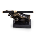 DESK ACCESSORIES - SIGN ON THE DOTTED LINE PEN HOLDER ON MARBLE BASE - PEN STAND