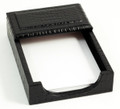 """GREENWICH"" BLACK ""CROCO"" LEATHER MEMO HOLDER - HOLDS  4"" X 6"" MEMO PAPER"