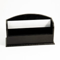 """GREENWICH"" BLACK ""CROCO"" LEATHER LETTER RACK"