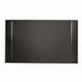 """GREENWICH"" BLACK ""CROCO"" LEATHER DESK PAD - DESK BLOTTER"