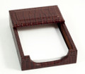 """GREENWICH"" BROWN ""CROCO"" LEATHER 4"" X 6"" MEMO HOLDER"