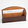 """""""GREENWICH"""" BROWN """"CROCO"""" LEATHER LETTER RACK"""