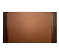 """GREENWICH"" BROWN ""CROCO"" LEATHER DESK PAD - LEATHER DESK BLOTTER"