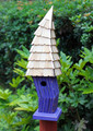 """CARDIFF"" CROOKED BIRDHOUSE - PURPLE - GARDEN DECOR"