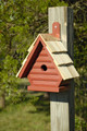 """CLAPHAM MANOR"" WOODEN BIRDHOUSE - REDWOOD FINISH - GARDEN DECOR"