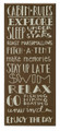 """CABIN RULES"" DECORATIVE WOODEN SIGN - WALL ART"
