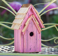 """BRIGHTON BUNGELOW"" WOODEN BIRDHOUSE - PINK - GARDEN DECOR"
