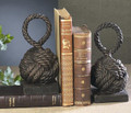 NAUTICAL KNOTS BOOKENDS - KNOT BOOK ENDS - NAUTICAL DECOR