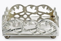 """SANDRINGHAM"" SCROLL NAPKIN HOLDER - ANTIQUE SILVER FINISH"
