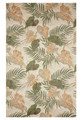 """TROPICAL FOLIAGE"" INDOOR OUTDOOR RUG - 42"" x 66"" - ISLAND STYLE"