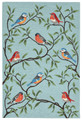 """COLORFUL SONGBIRDS"" INDOOR OUTDOOR AREA RUG - 8'3"" x 11'6"" - BIRD RUG"