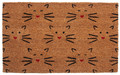 """FRISKY FELINES"" COIR DOORMAT - 17"" X 28"" - CAT WELCOME MAT"