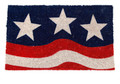 "PATRIOTIC FLAG COIR DOORMAT - 17"" X 28"" - FLAG WELCOME MAT"