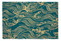 """CRASHING WAVES"" COIR DOORMAT - 24"" X 36"" WELCOME MAT - VICTORIA & ALBERT MUSEUM"