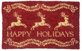 "PRANCING REINEER COIR DOORMAT - 22"" X 35"" WELCOME MAT - COLONIAL WILLIAMSBURG COLLECTION"