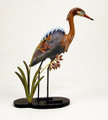 FIGURINES - REDDISH EGRET TABLETOP SCULPTURE - COASTAL & NAUTICAL DECOR
