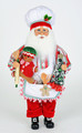 CHRISTMAS DECORATIONS - GINGERBREAD SANTA WITH DECORATED TREE - COLLECTIBLE SANTA FIGURINE
