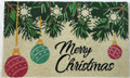 "CHRISTMAS ORNAMENTS COIR DOORMAT - 18"" X 30"" CHRISTMAS WELCOME MAT"