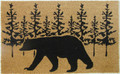"WOODLAND BEAR COIR DOORMAT - 18"" x 30"" - WELCOME MAT - LODGE DECOR"