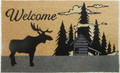 "MOOSE LODGE COIR WELCOME MAT - 18"" x 30"" - DOORMAT - LODGE DECOR"