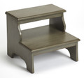CANTERBURY STEP STOOL - BED STEPS - SILVER SATIN FINISH - FREE SHIPPING*