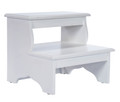CHESHIRE STEP STOOL - BED STEPS - COTTAGE WHITE FINISH - FREE SHIPPING*