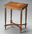 CROWN COURT STARBURST INLAID SIDE TABLE - OLIVE ASH BURL FINISH - FREE SHIPPING*