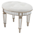 VERSAILLES OVAL VANITY STOOL WITH UPHOLSTERED SEAT CUSHION - FREE SHIPPING*