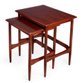"""EARLS COURT"" NESTING TABLES - SET OF TWO - MAHOGANY FINISH - FREE SHIPPING*"