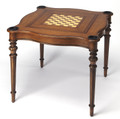 WELLESLEY GAME TABLE - ANTIQUE CHERRY FINISH - CHESS - CHECKERS - BACKGAMMON - FREE SHIPPING*