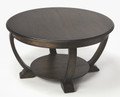 ARDMORE ROUND COFFEE TABLE - DARK BROWN FINISH - FREE SHIPPING*
