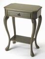 GLEN COVE SIDE TABLE - END TABLE - SILVER SATIN FINISH - FREE SHIPPING*