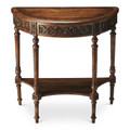 GRANTHAM DEMILUNE CONSOLE TABLE - DARK TOFFEE FINISH - FREE SHIPPING*