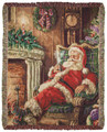 """A TREAT FOR SANTA"" TAPESTRY THROW BLANKET - CHRISTMAS THROW - 50"" X 60"""
