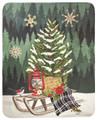 """WOODLAND CHRISTMAS"" FLEECE THROW BLANKET - 50"" X 60"" - CHRISTMAS THROW"