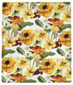 """BUTTERFLY GARDEN"" THROW BLANKET - 50"" X 60"" - FLORAL THROW"