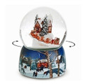 """DELIVERY FROM SANTA"" MUSICAL SNOW GLOBE WITH ROTATING SLEIGH"