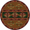 STAR CANYON AREA RUG - 8' ROUND RUG - LODGE DECOR - SOUTHWEST DECOR