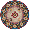 """GLEN CANYON"" AREA RUG - 8' ROUND RUG - SOUTHWEST DECOR - LODGE DECOR"