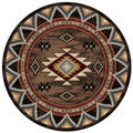 """DURANGO CANYON"" AREA RUG - 8' ROUND RUG - SOUTHWEST DECOR - LODGE DECOR"