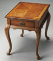 CARLYLE MANOR INLAY END TABLE - OLIVE ASH BURL FINISH - FREE SHIPPING*