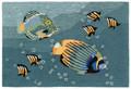 "TROPICAL FISH TANK INDOOR OUTDOOR RUG - 30"" x 48"" - AQUARIUM RUG"