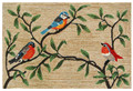 """""""COLORFUL SONGBIRDS"""" INDOOR OUTDOOR RUG - NATURAL - 24"""" x 36"""""""