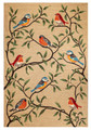 """""""COLORFUL SONGBIRDS"""" INDOOR OUTDOOR RUG - NATURAL - 5' x 7'6"""